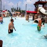 Dads watch children play in Ocean City waterpark