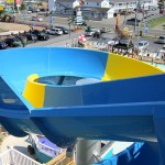 A view of the Ocean City waterpark from top of slide