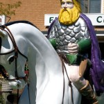 Viking on horse at miniature golf course