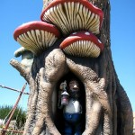 Mushroom tree with troll at OCMD mini golf