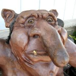 Miniature golf course troll with long nose decor