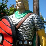 Mini golf decor viking with red shield