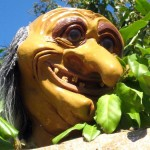Troll head decor on Fenwick Island mini golf course
